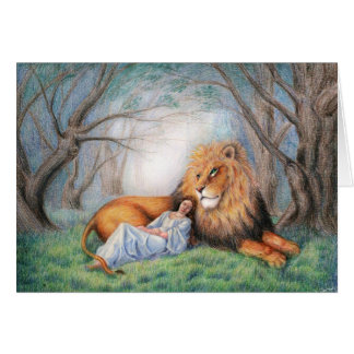 Lion and Me Greeting Card