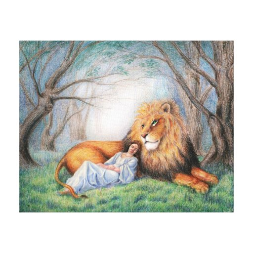 Lion and Me Gallery Wrap Canvas