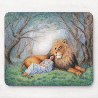 Lion and Me Mouse Pad