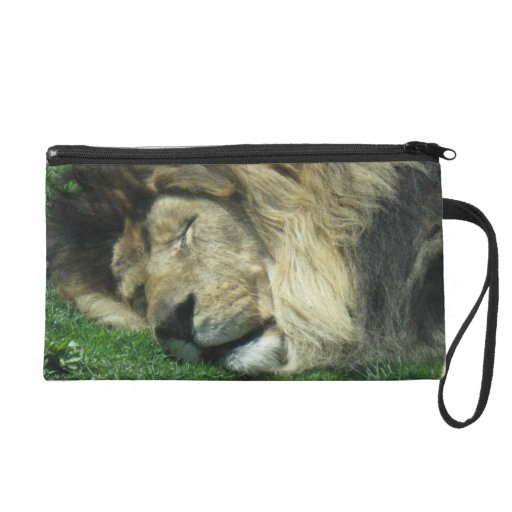 Lion and Peacock Wristlet