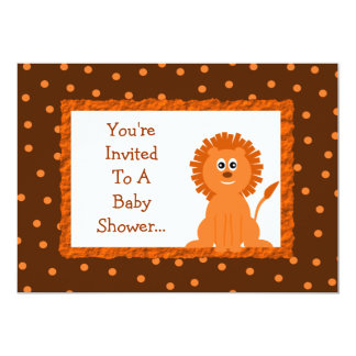 Lion and Polka Dots Baby Shower or Birthday Card