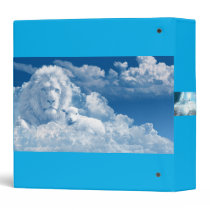 Lion and sheep in clouds binder