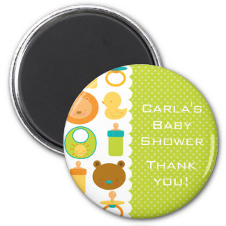 Lion and Teddy Bear Baby Shower Thank You Magnet