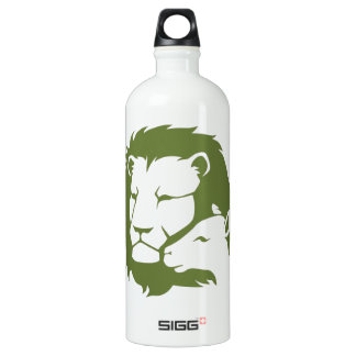 Lion and The Lamb Aluminum Water Bottle