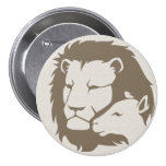 Lion and The Lamb Buttons