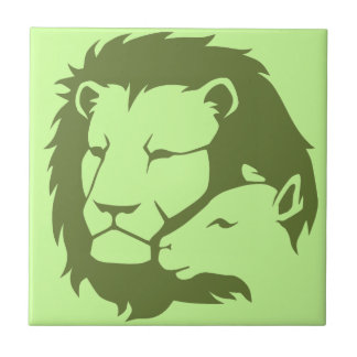 Lion and The Lamb Ceramic Tile
