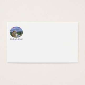 Lion and the lamb christian gifts business card