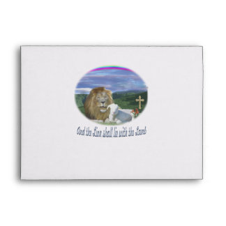 Lion and the lamb christian gifts envelope