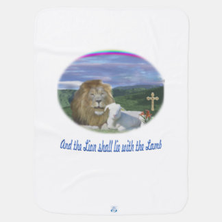 Lion and the lamb christian gifts swaddle blanket