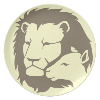 Lion and The Lamb Dinner Plate