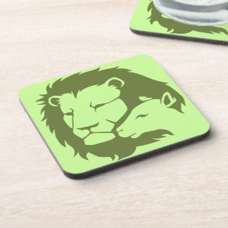 Lion and The Lamb Drink Coaster
