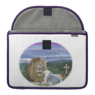 Lion and the Lamb MacBook Pro Sleeves