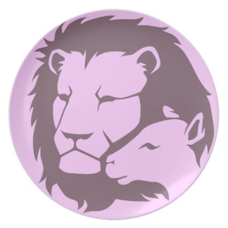 Lion and The Lamb Melamine Plate