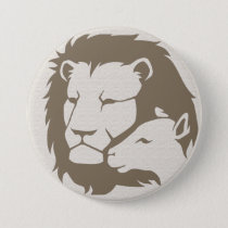 Lion and The Lamb Pinback Button