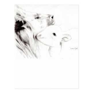 Lion and the Lamb Postcard