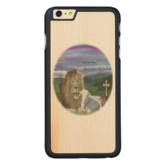 Lion and the Lamb products Carved Maple iPhone 6 Plus Slim Case