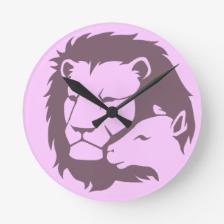 Lion and The Lamb Round Clock