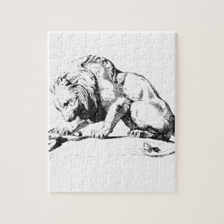 Lion And The Serpent Jigsaw Puzzle