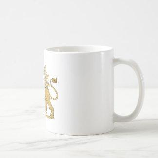Lion and the sun coffee mug