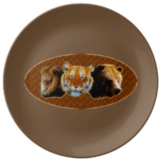 Lion And Tiger And Bear Plate