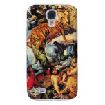 Lion and Tiger hunting by Paul Rubens Samsung Galaxy S4 Case