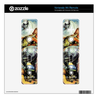 Lion and Tiger hunting by Paul Rubens Nintendo Wii Remote Decal