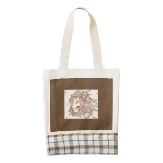 Lion and Triangles Zazzle HEART Tote Bag