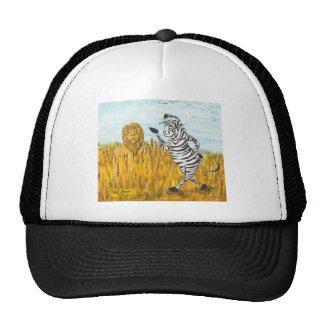 Lion and Zebra Trucker Hat