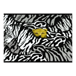 LION AND ZEBRAS (costomizable) Card
