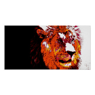 Lion Animal Art Poster