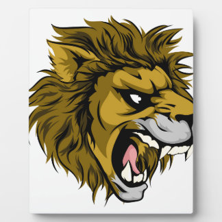 Lion animal sports mascot display plaque