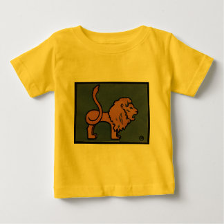 Lion - Antiquarian, Colorful Book Illustration Baby T-Shirt
