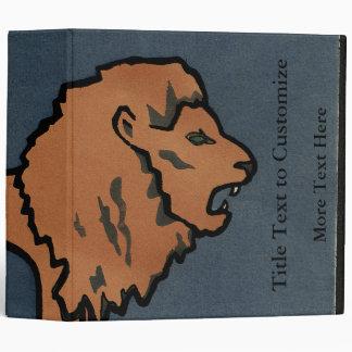 Lion - Antiquarian, Colorful Book Illustration Binder