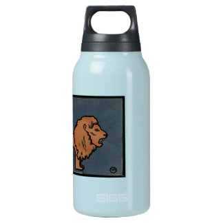Lion - Antiquarian, Colorful Book Illustration Insulated Water Bottle