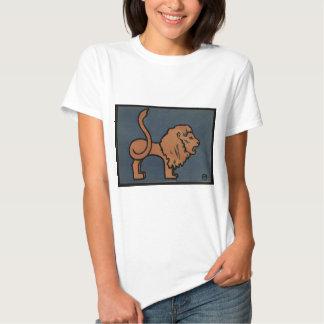 Lion - Antiquarian, Colorful Book Illustration T-Shirt