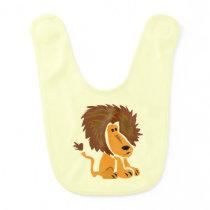 Lion Art Baby Bib