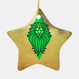 Lion Art Design Ceramic Ornament
