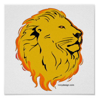 Lion Art Design Poster