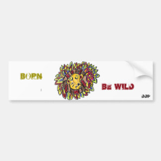 lion art one bumper sticker