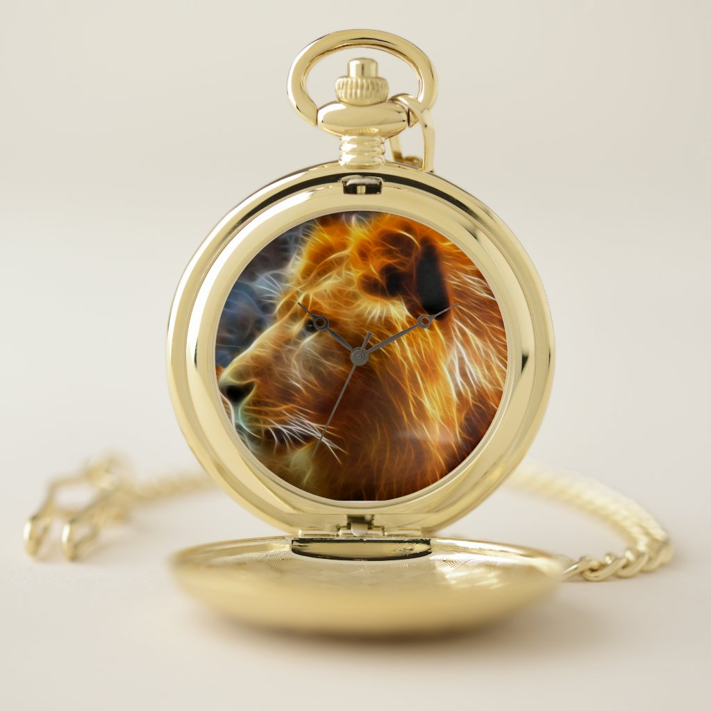 Lion art pocket Watch