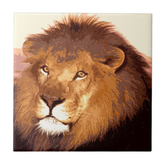 Lion Artwork Tile