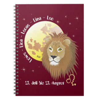 Lion - asterisk note booklet notebook