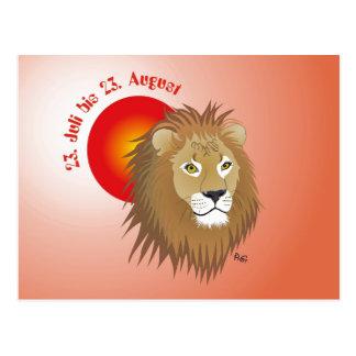 Lion asterisk postcard