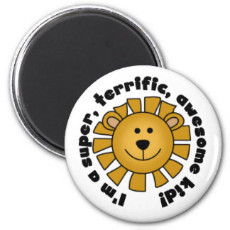 Lion Awesome Kid 2 Inch Round Magnet