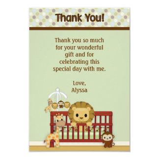 "LION Baby Jungle Pals Thank You 3.5""x5""FLAT JPN-L Card"