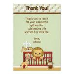"LION Baby Jungle Pals Thank You 3.5""x5""FLAT JPN-L Personalized Invites"