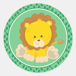 Lion | Baby Safari Animals Classic Round Sticker