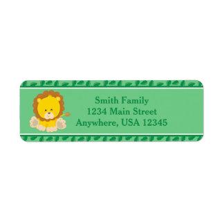 Lion | Baby Safari Animals | Personalized Label