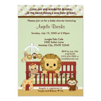 LION Baby Shower Invitation Jungle Pals JPN-L