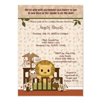 LION Baby Shower Invitation Nali Jungle NJL